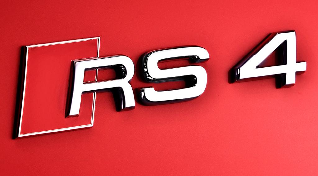 Audi RS4 Avant: Modellschriftzug am Heck.