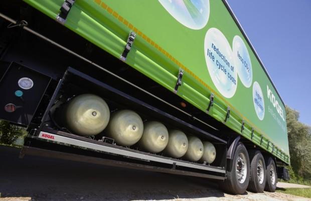 Erdgas-Trailer von Kögel sorgt für dreifache Reichweite bei Lkw