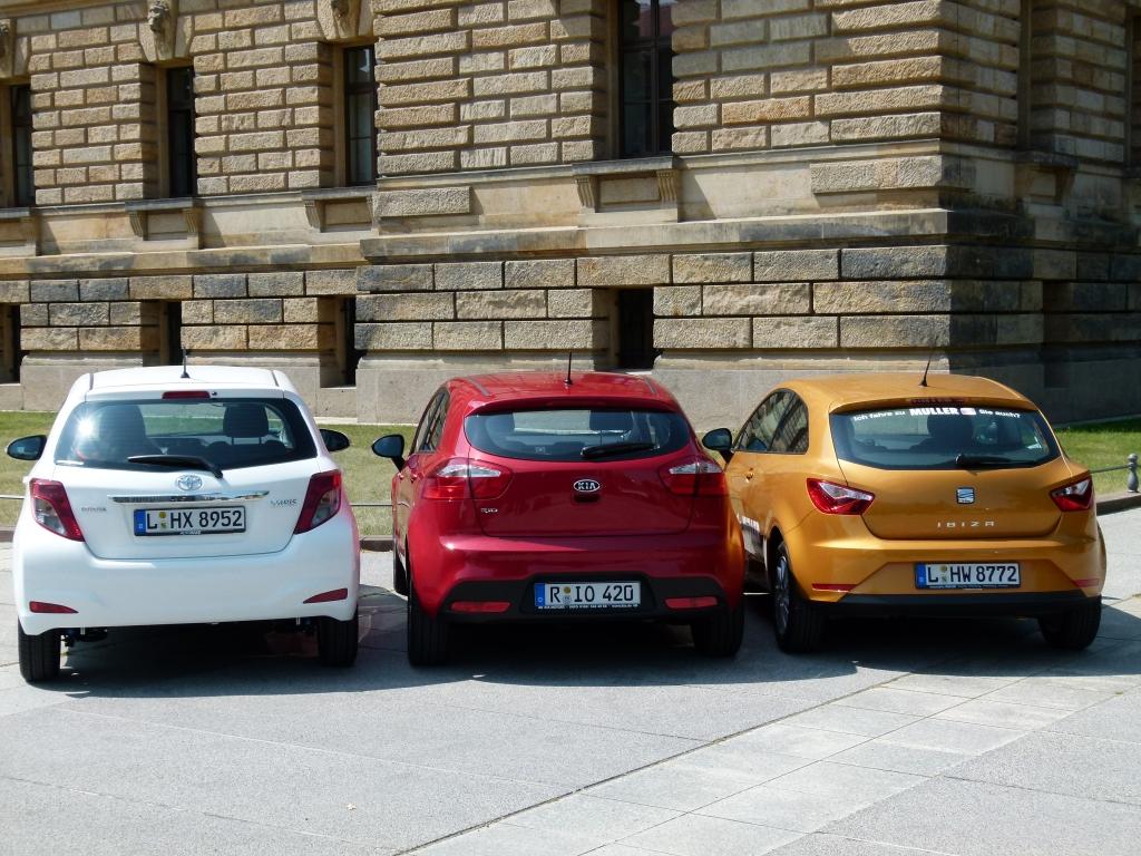 Kleinwagen-Duell: Kia Rio gegen Seat Ibiza und Toyota Yaris