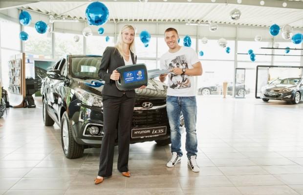 Lukas Podolski fährt ab sofort Hyundai