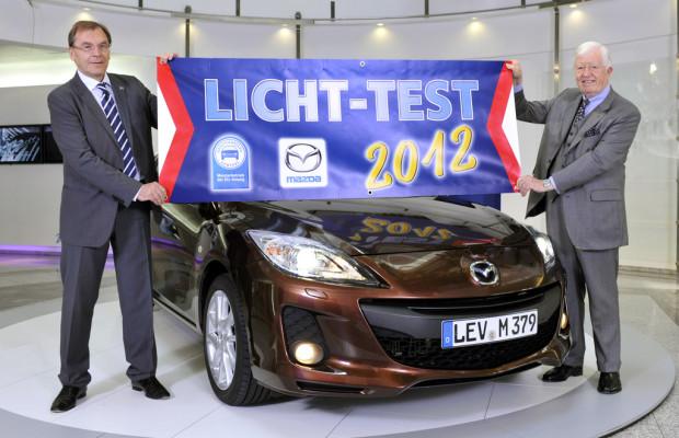 Mazda kooperiert mit ZDK beim Licht-Test 2012