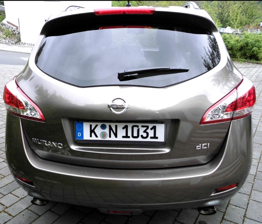 Nissan Murano: Blick auf die Heckpartie.