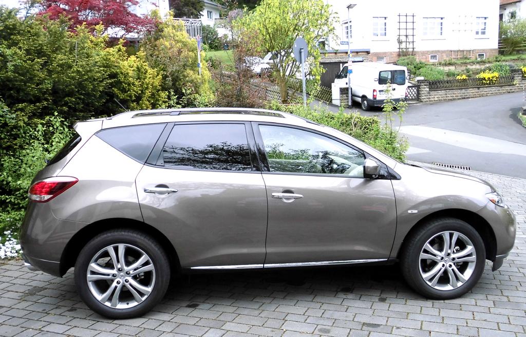 Nissan Murano: Und so sieht das Crossover-SUV-Modell von der Seite aus.