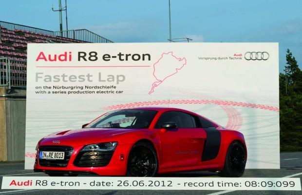 Rekord für den Audi R8 e-tron: 8:09,099 Minuten für die Nordschleife