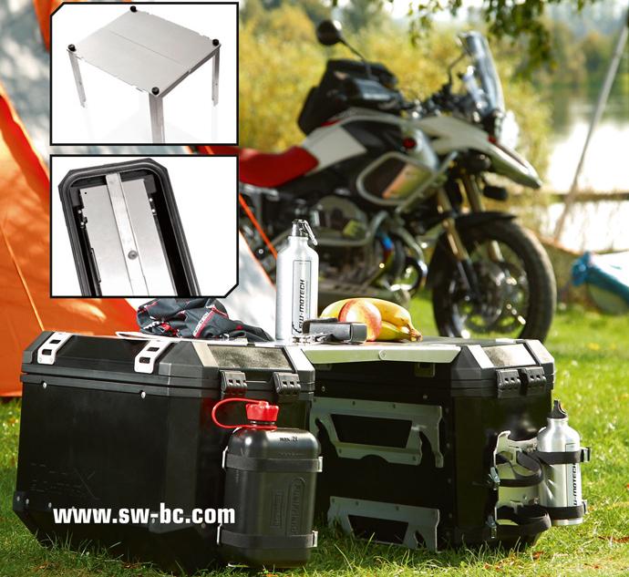 SW-Motech: TraX Motorrad-Koffersystem mit eingebautem Campingtisch