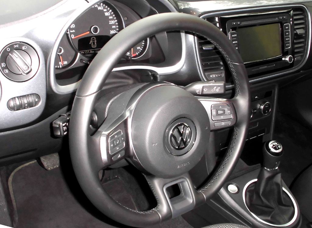 VW Beetle: Blick ins Cockpit.