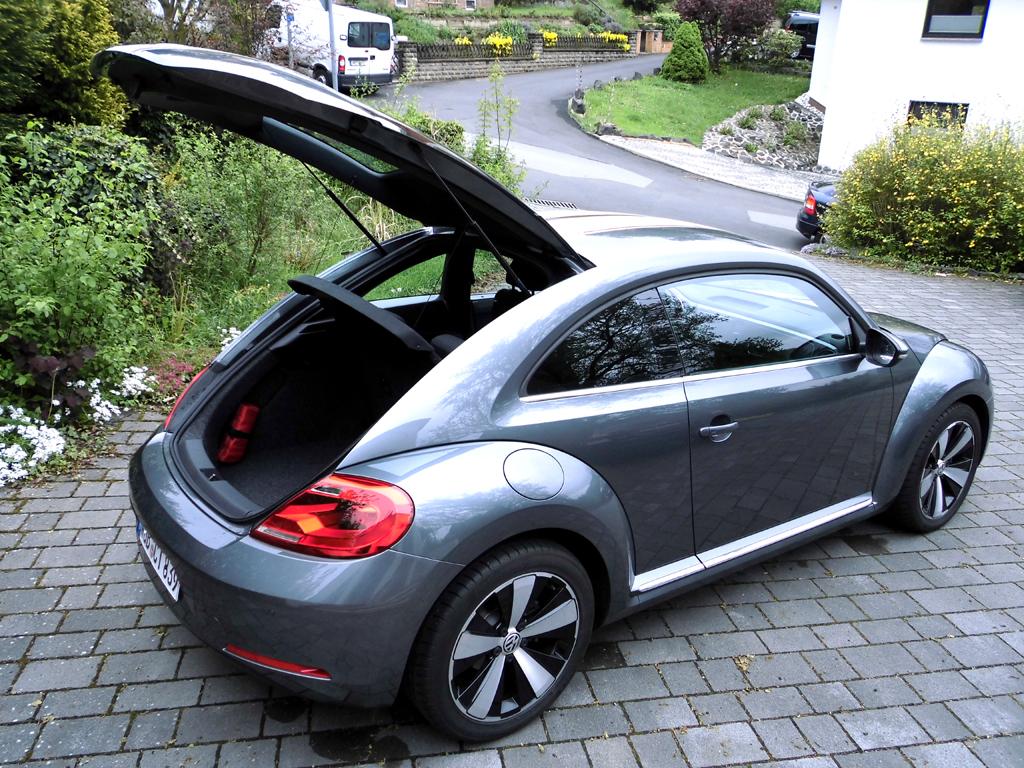 VW Beetle: Ins Gepäckabteil passen 310 bis 905 Liter hinein.