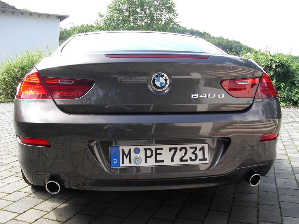 BMW Coupé 640d: Blick auf die Heckpartie.