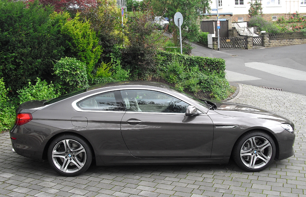 BMW Coupé 640d: Und so sieht das Oberklasse-Coupé von der Seite aus.