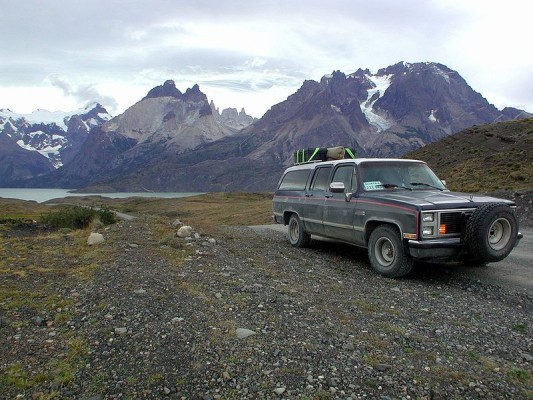 Dieser GMC Sierra fuhr die gesasmte Strecke von Alaska bis Feuerland - Bild: Wikipedia