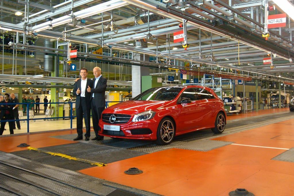 In Rastatt ist die erste Mercedes A-Klasse vom Band gelaufen