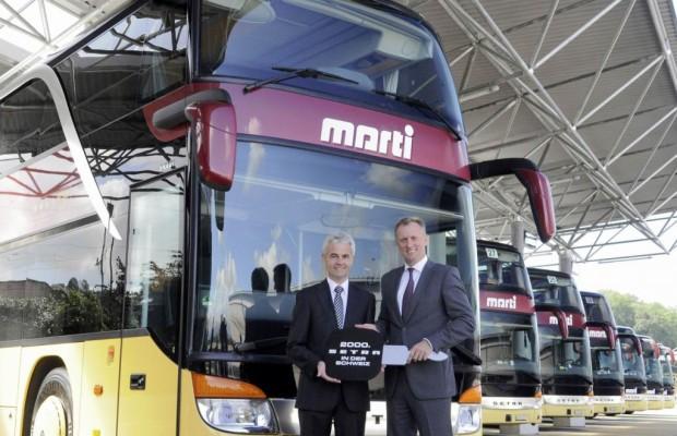 Jubiläums-Doppeldecker-Bus für die Schweiz