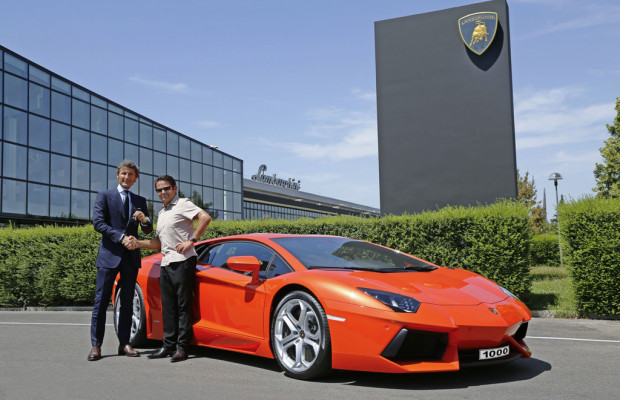 Lamborghini baute den 1000sten Aventador LP 700-4