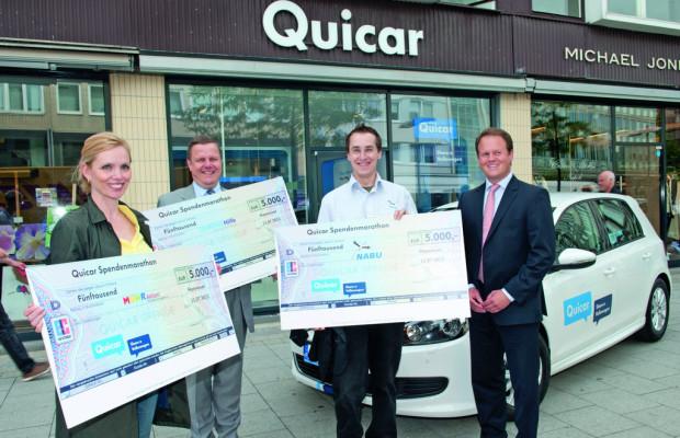 Quicar spendet 15 000 Euro