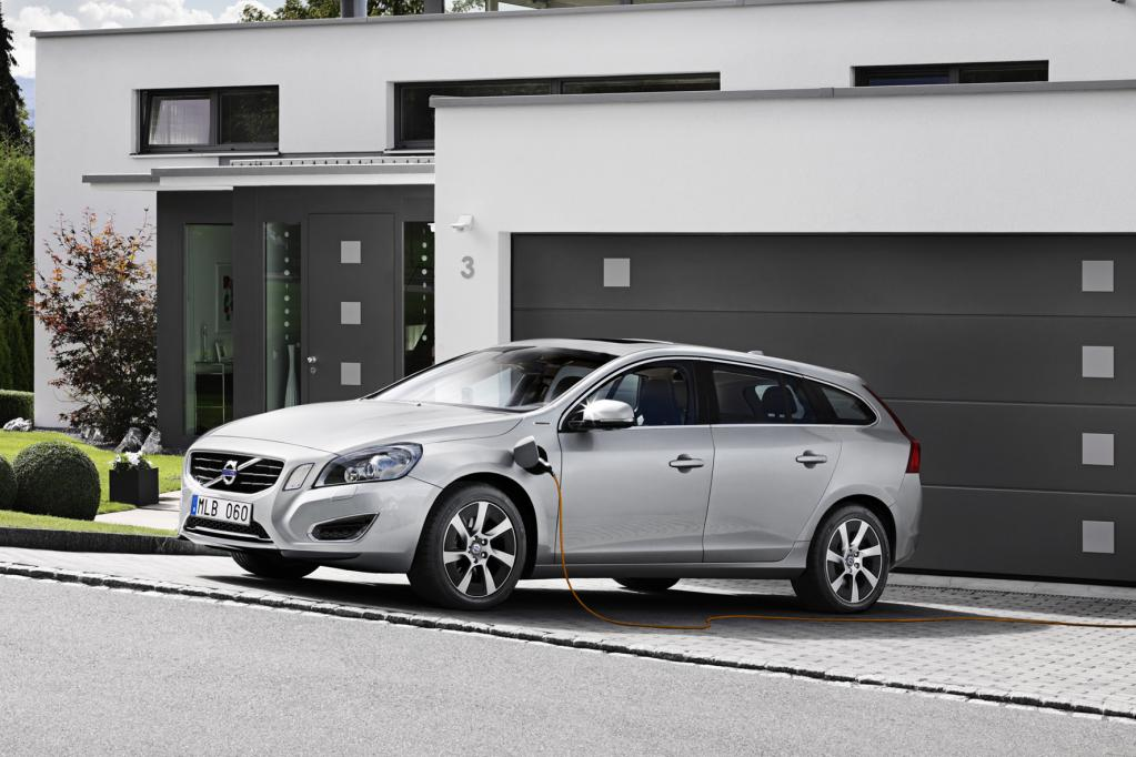 Volvo V60 für den Steckdosenbetrieb