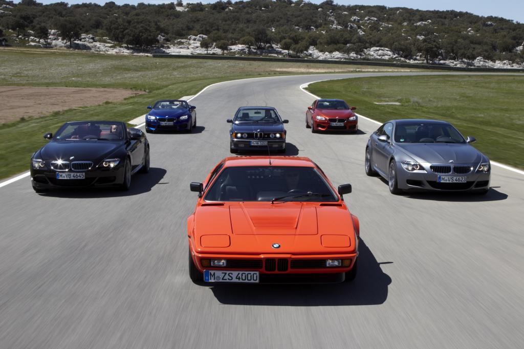 BMW M6 Generationentreffen Jahr 2012 hinter BMW M1