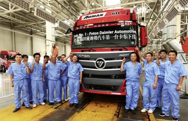Beim Daimler-Foton-Joint venture rollte heute der erste Lkw vom Band