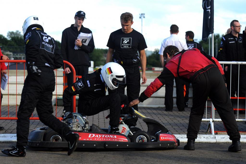 Beim Kart-Rennen geht es eng zu