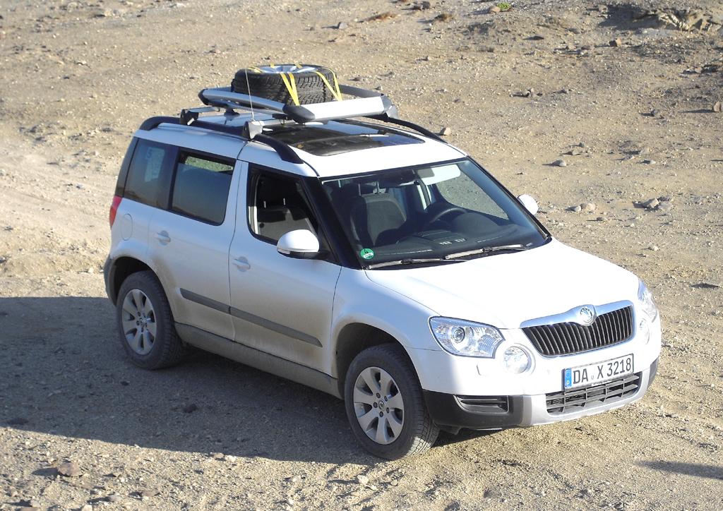 Bereit für die beiden Schlussetappen: Skoda Yeti, Wagen 5.