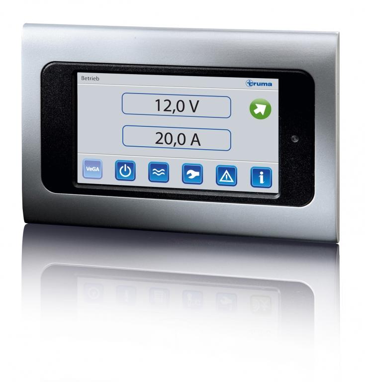 Caravan Salon Düsseldorf 2012: Truma Brennstoffzellen mit Gasbetrieb   VeGA-Kontrolleinheit