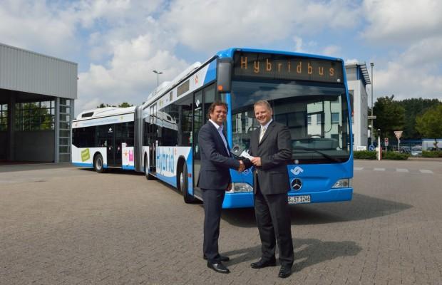 Erste Hybridbuslinie in Münster