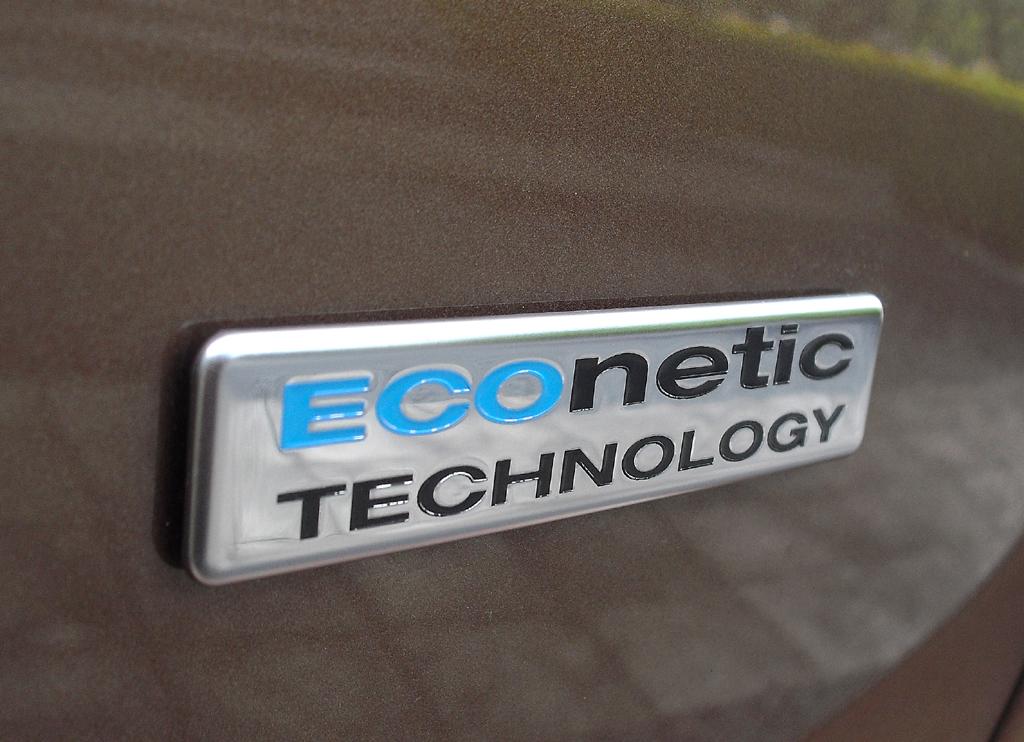 Ford B-Max: Dieser Schriftzug am Heck steht für umweltfreundlichere Technologie.