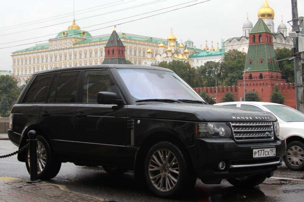 In Moskau ist die Luxusauto-Quote ungewöhnlich hoch