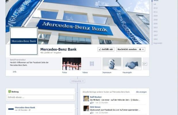 Mercedes-Benz-Bank jetzt auf Facebook