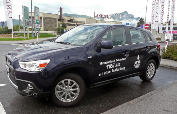 Mitsubishi ASX legt mit einer Tankfüllung über 1850 Kilometer zurück