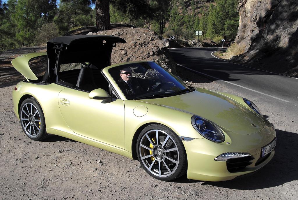Noch ein Beispiel für klassisches Stoffverdeck: Porsches aktuelles 911 Cabrio.