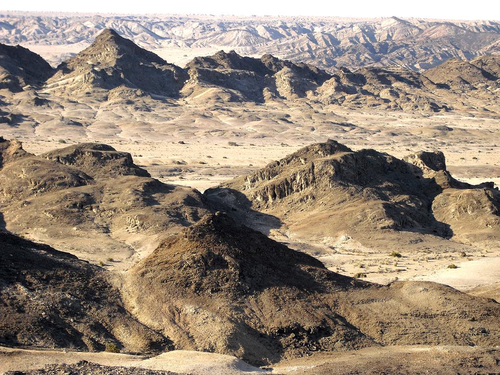 Nordöstlich von Swakopmund erstreckt sich diese bizarre Mondlandschaft.