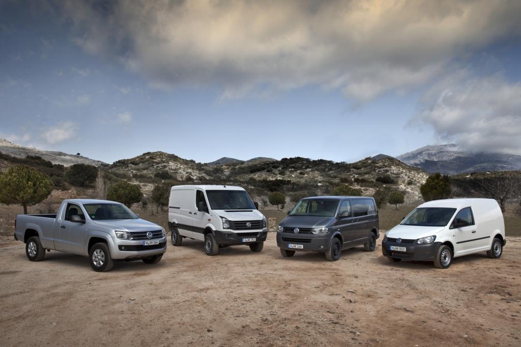 VW Amarok, Crafter, Transporter und Caddy