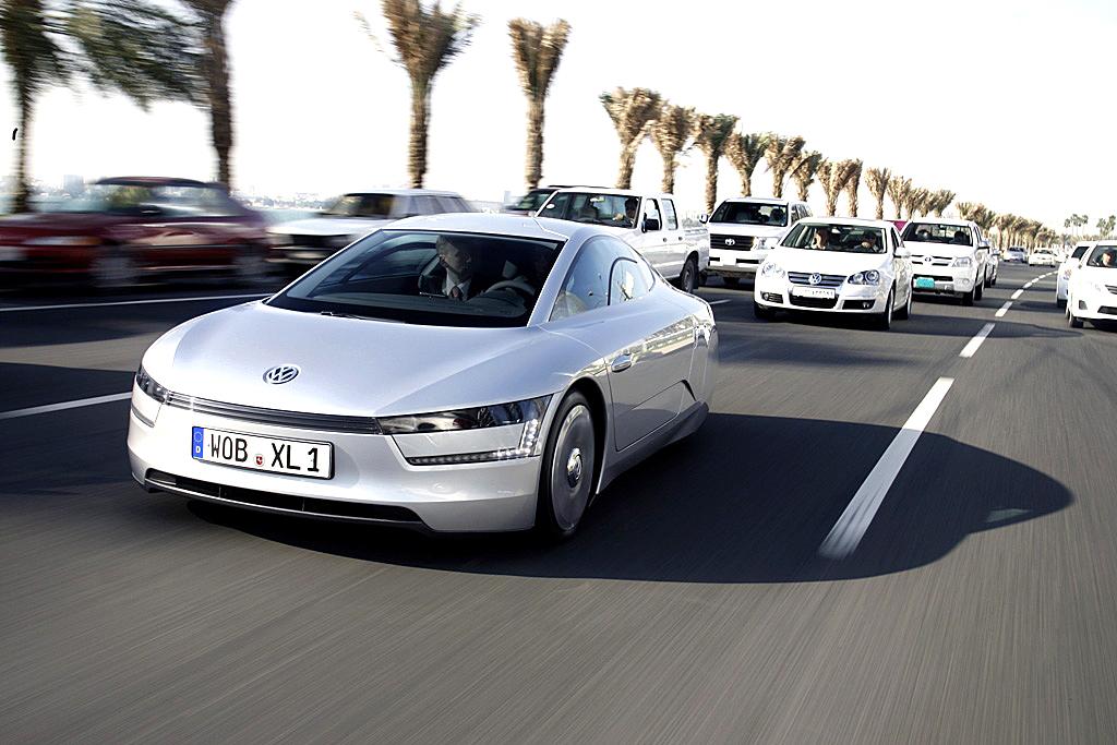 VW-Ein-Liter-Auto XL1 mit einem Luftwiderstandsbeiwert von nur 0,186.