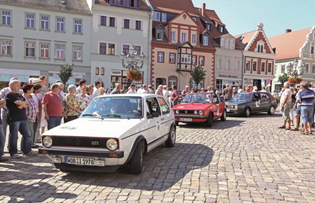 Volkswagen Klassiker auf Rallyekurs durch Sachsen