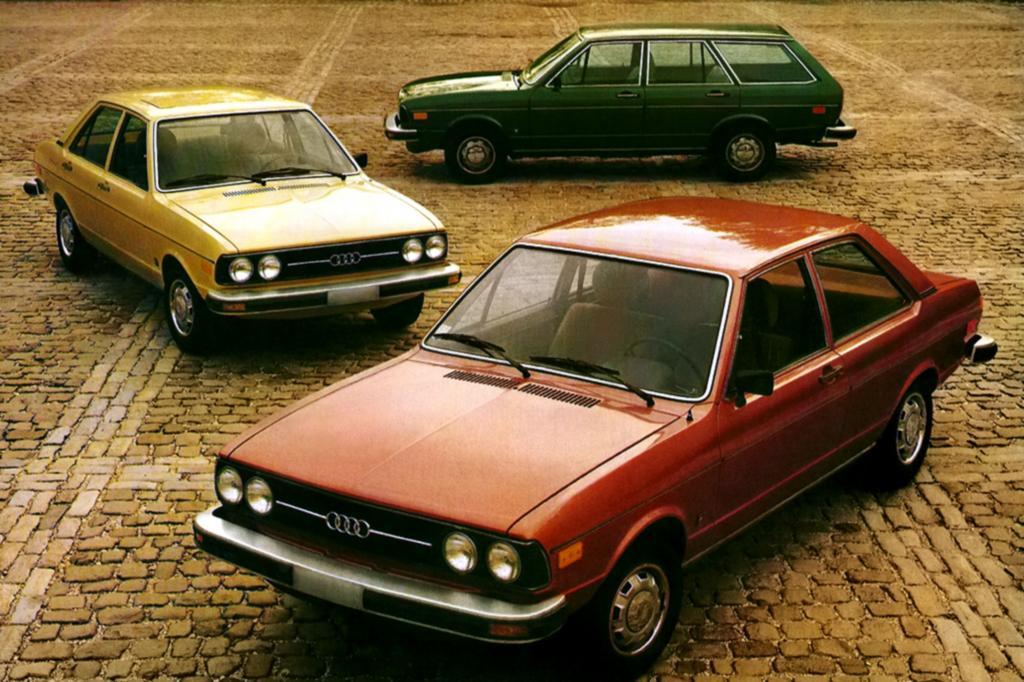 Audi Vox Modellpalette ab 1976