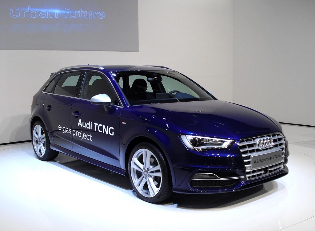 Audis neuer A3 Sportback, hier als erstes e-gas-Modell der Marke. Foto: Koch