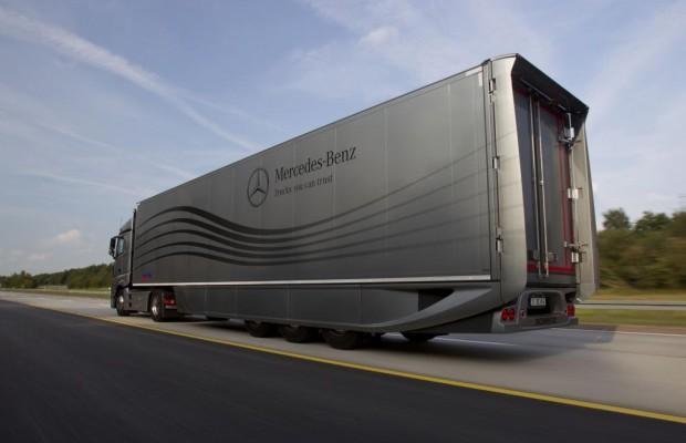 IAA-Weltpremiere: Spritspar-Auflieger von Mercedes