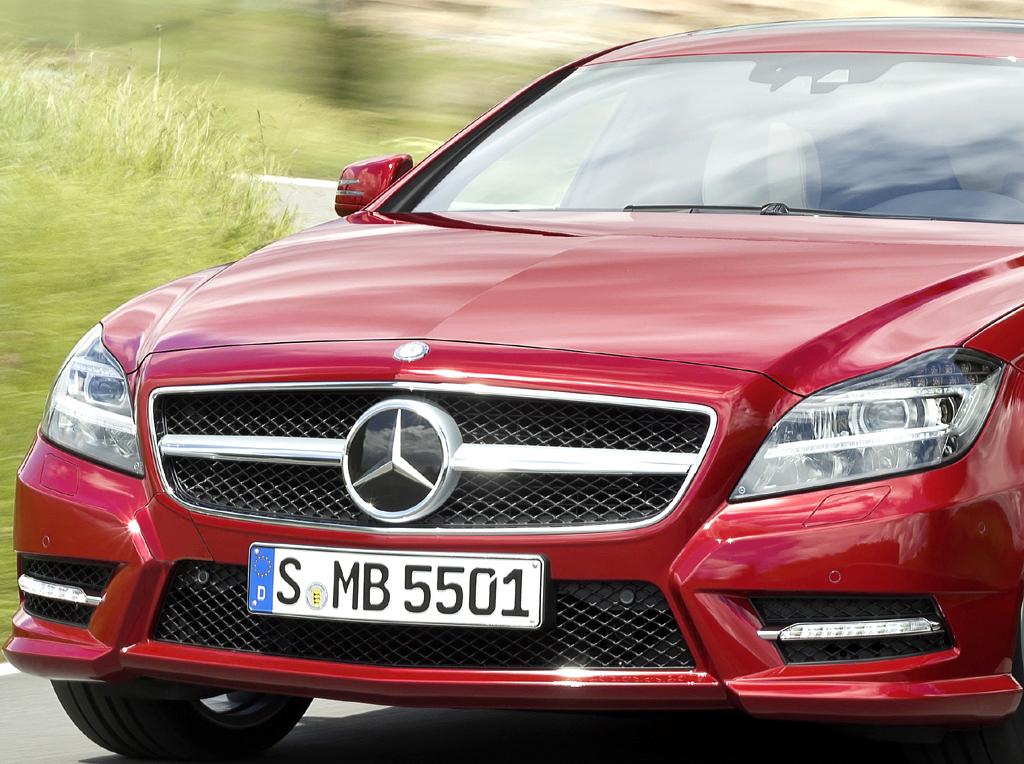 Mercedes CLS Shooting Brake: Blick auf die Frontpartie.