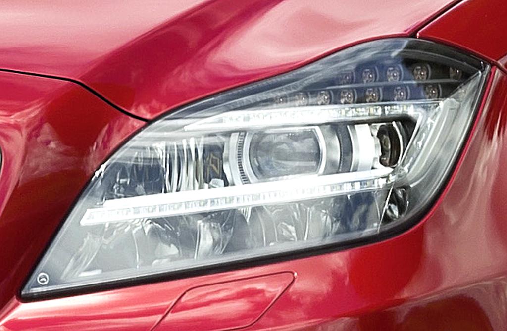 Mercedes CLS Shooting Brake: Moderne Leuchteinheit vorn.