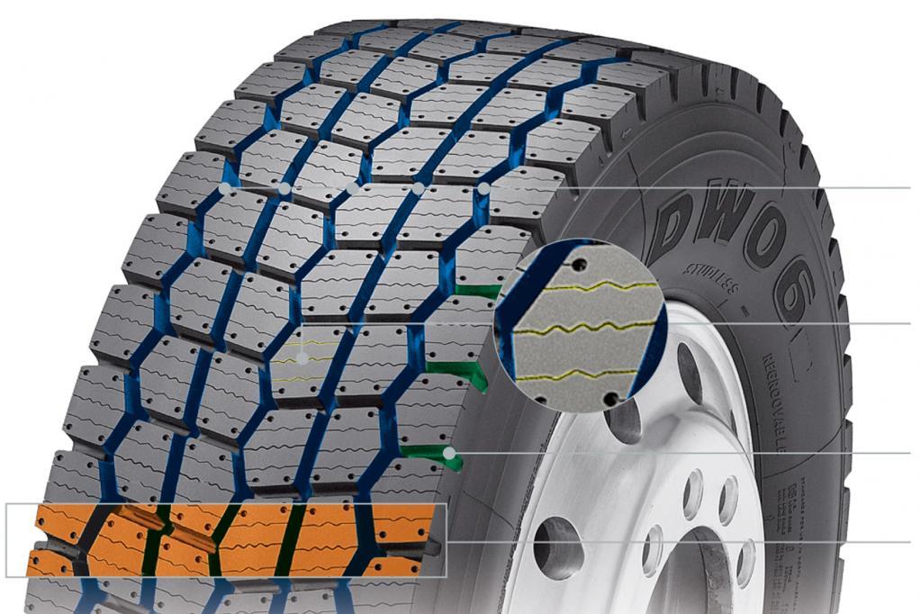 Neue Lkw-Reifen von Hankook