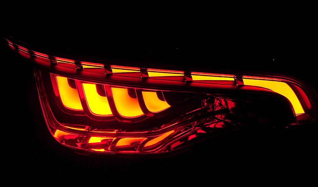 Neue Rückleuchten-Lichttechnologie, hier bei Audi.