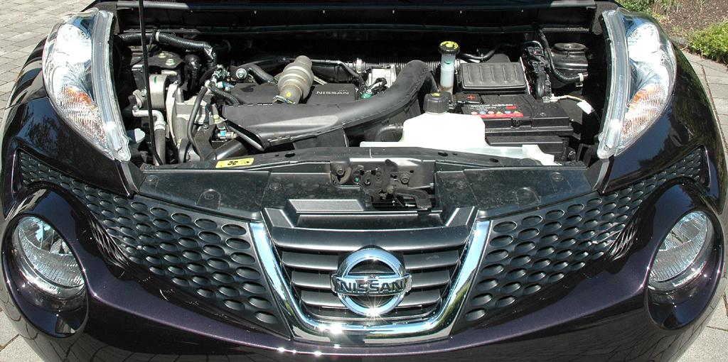 Nissan Juke: Blick auf den 1,5-Liter-Vierzylinder-Selbstzünder.