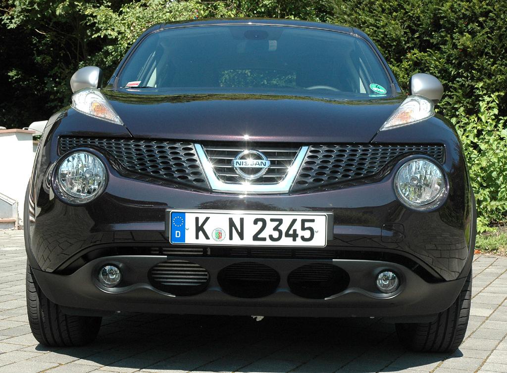 Nissan Juke: Blick auf die Frontpartie.