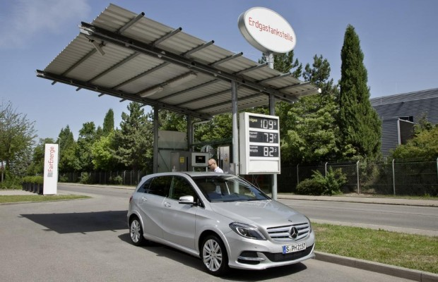 Paris 2012: Mercedes B200 Natural Gas Drive - Günstig Gas geben