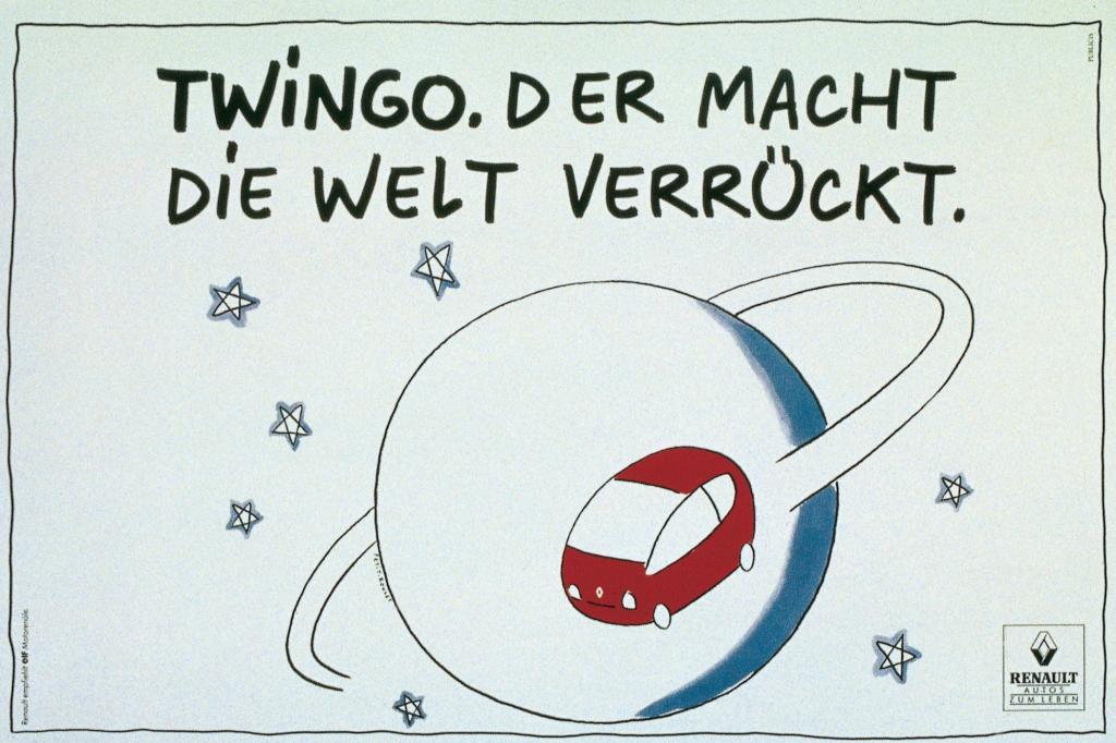 So kündigte die Renault-Werbung den neuen Kleinwagen an
