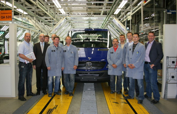 500 000ste Fahrzeug rollt bei Mercedes-Benz Ludwigsfelde vom Band