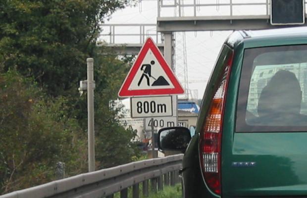 Auf acht Prozent des Autobahnnetzes sind Baustellen
