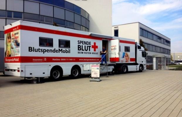 Blutspende-Aktion im Evobus-Werk Neu-Ulm