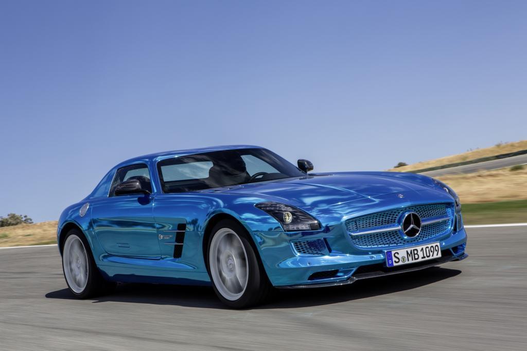 Der Elektro-SLS von Mercedes ist stark und teuer