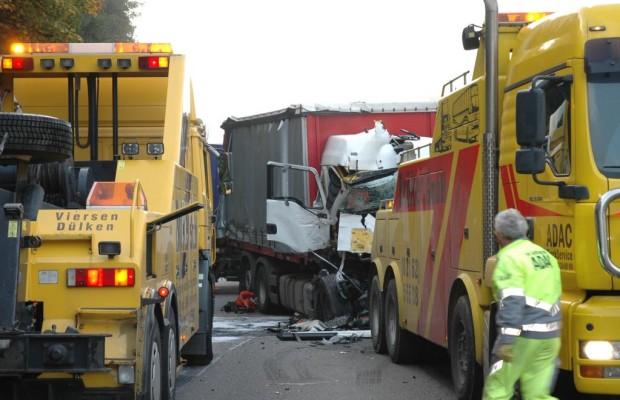 Ein Sicherheitskokon soll Lkw vor Unfällen schützen